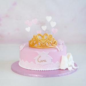 Tort Botez Coronita Aurie