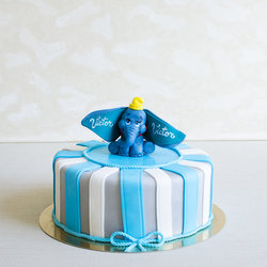 Tort botez Dumbo Albastru