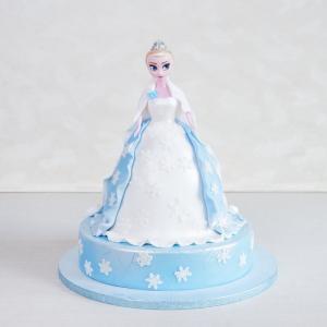Tort Papusa Elsa Regatul de Gheata