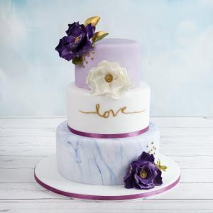Tort de nunta Mov-Lila Love