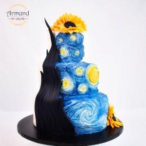 Tort design floarea soarelui