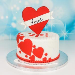 Tort Valentine's Day inima rosie