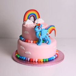 Tort Unicorn Rainbow Dash