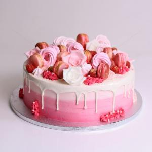 Tort feerie flori si macarons