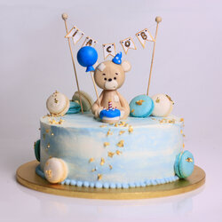 "Tort Teddy Bear ""Happy Birthday!"""