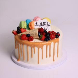 Tort frosting con cu fructe