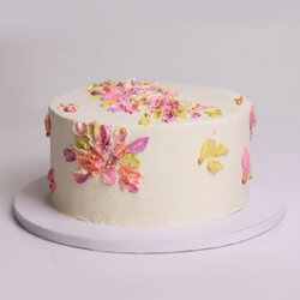Tort in culori pastelate