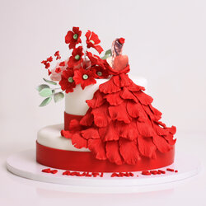 Tort rochie flamenco