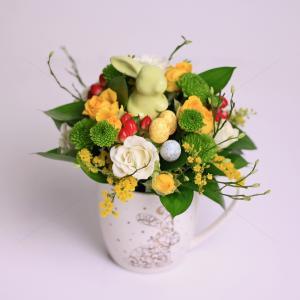 Aranjament floral Cescuta cu flori