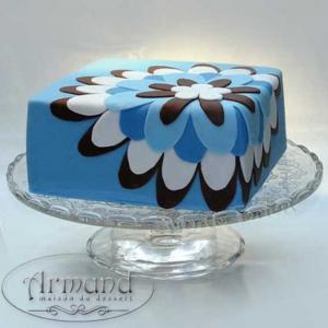 Tort Floral albastru