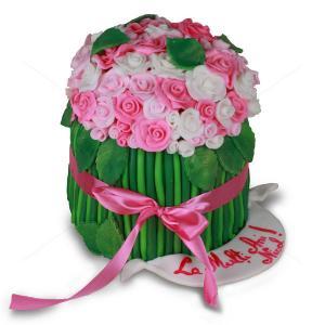 Tort Buchet trandafiri
