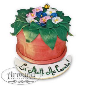 Tort Ghiveci cu flori