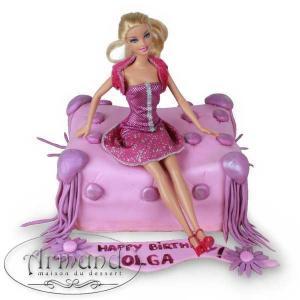 Tort Perna pentru papusa Barbie