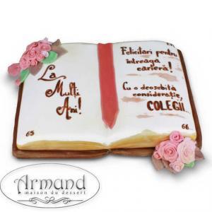 Tort Carte deschisa cu trandafiri