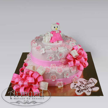 Tort Hello Kitty cu funda pampon