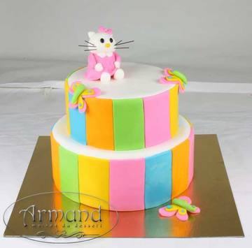 Tort Hello Kitty colorat