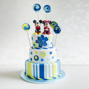 Tort Mickey si Minnie +  acadele