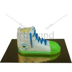 Tort Converse alb si verde