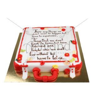 Tort Valiza cu mesaj