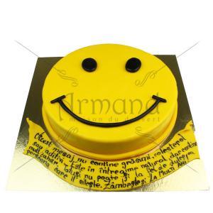 Tort Smiley Face cu mesaj
