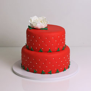 Tort personalizat Craciun elegant