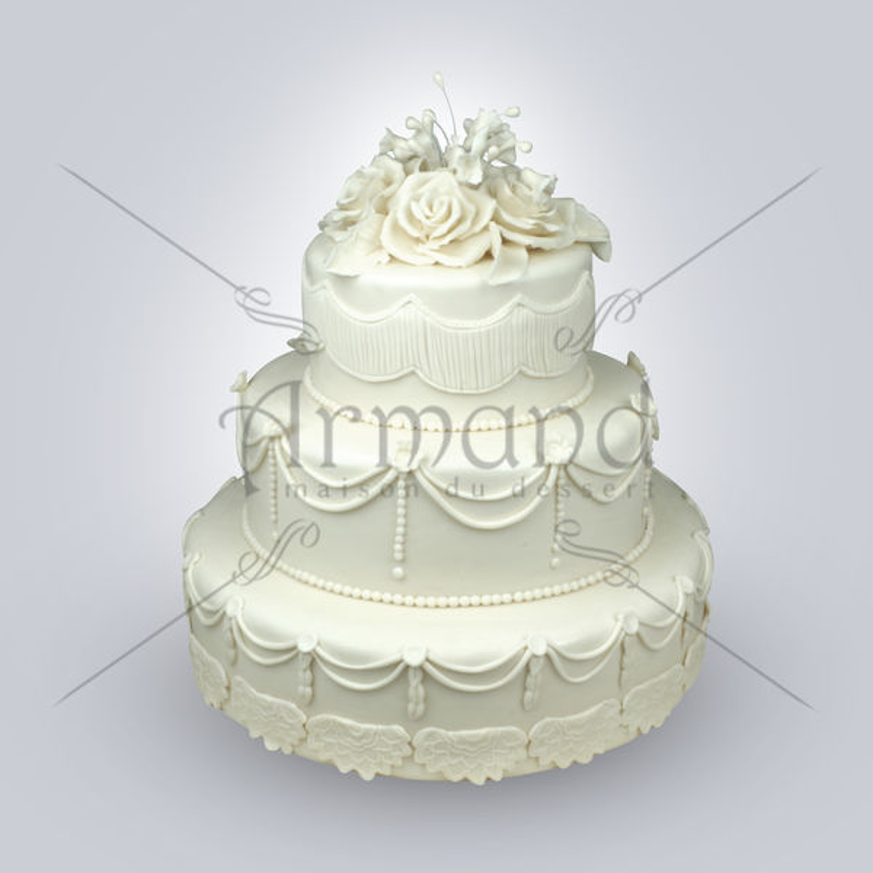 Tort de nunta Clasic alb