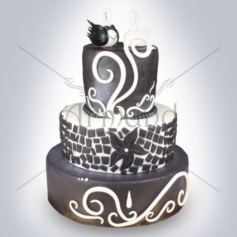 Tort nunta Mozaic si Lebede