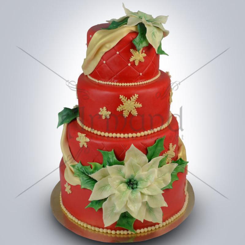 Tort elegant Nunta iarna