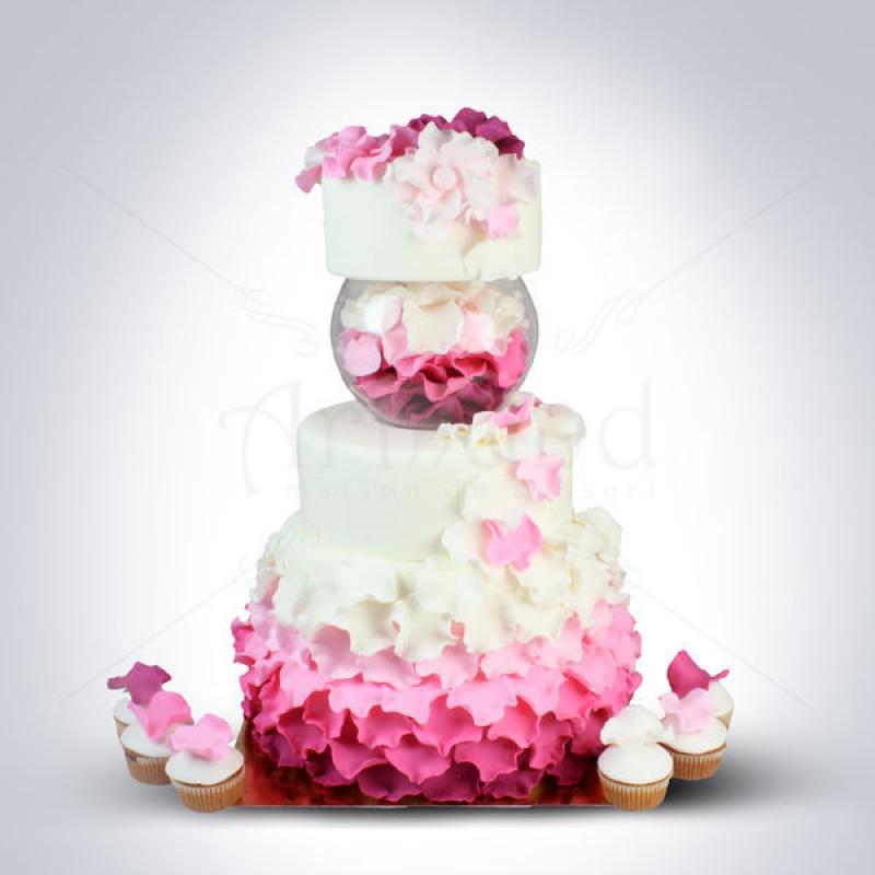 Tort de nunta Petale flori