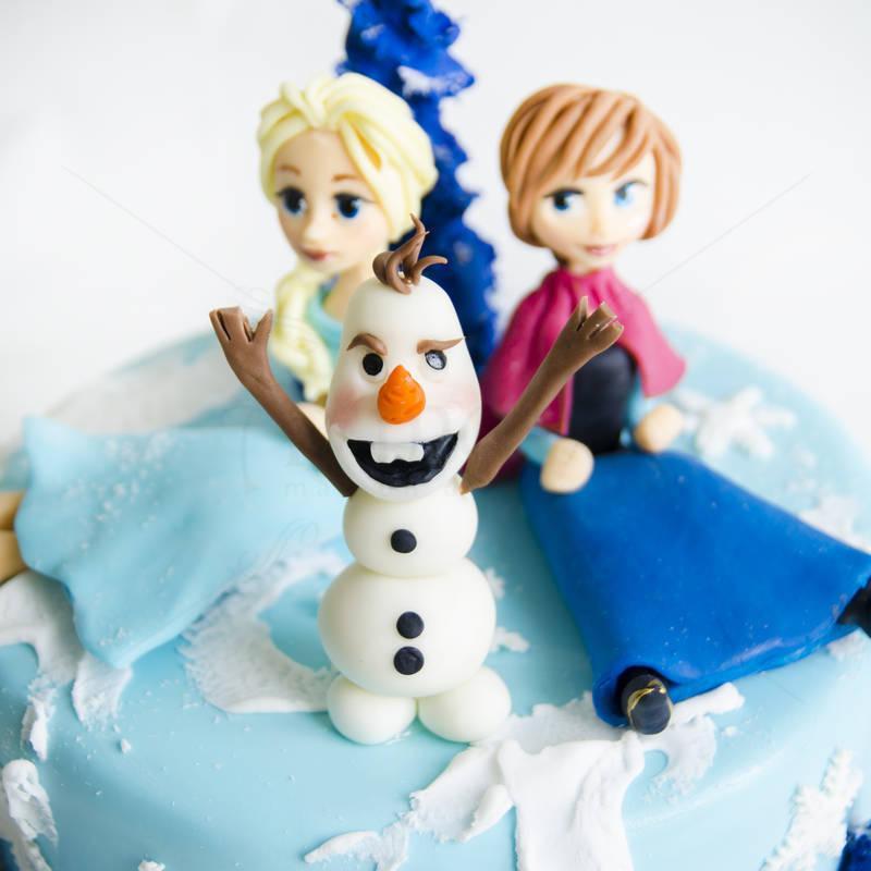 Tort Frozen Ana, Elsa si Olaf
