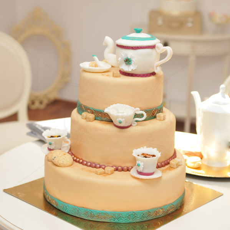 Tort de nunta Ceainic vintage