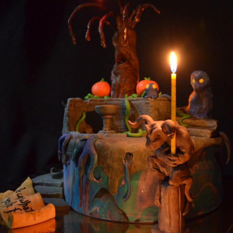 Tort Halloween Tree