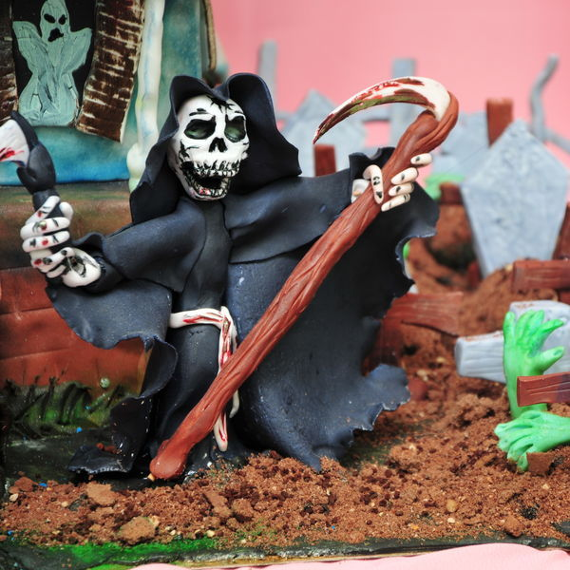 Tort Halloween Casa Groazei