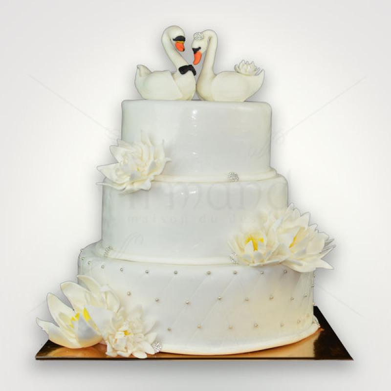 Tort de nunta Lebede elegante