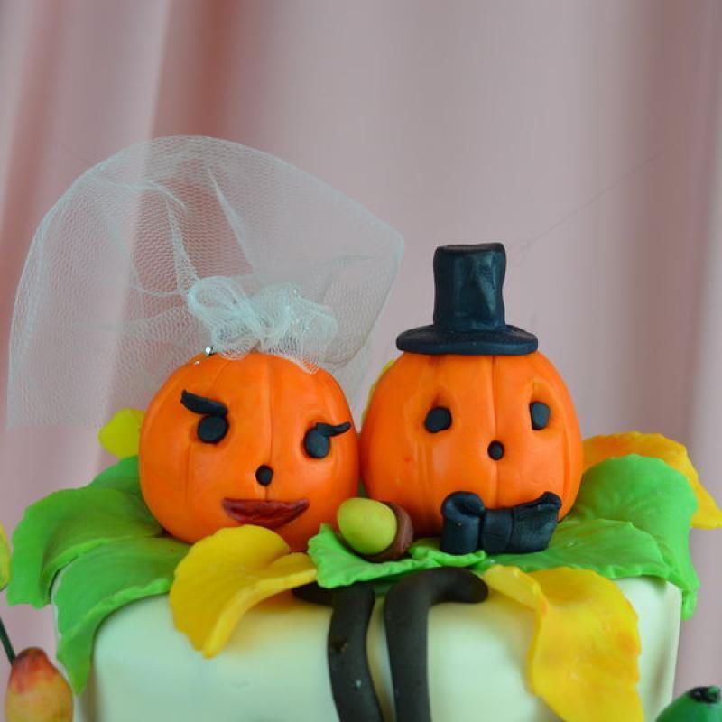 Tort de nunta Halloween