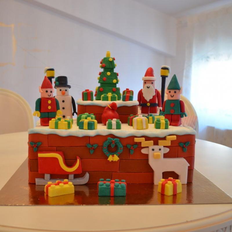 Tort Lego Christmas