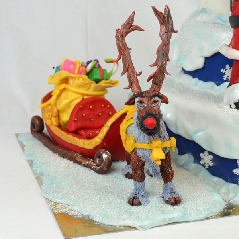 Tort Mos Craciun si Rudolf