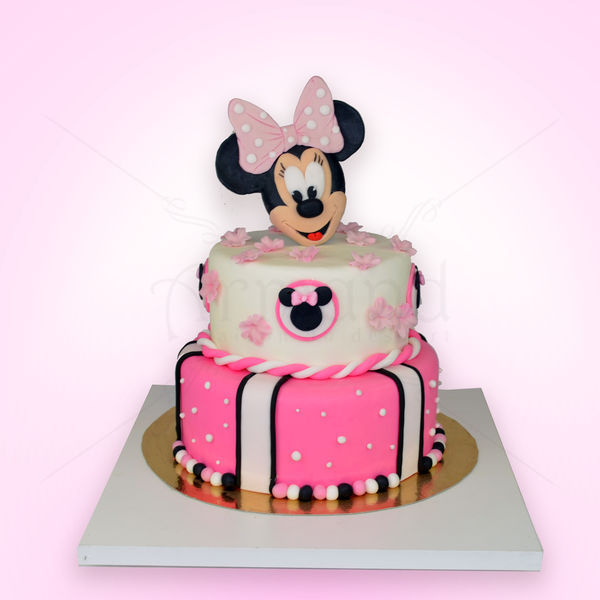 Tort Minnie Mouse roz