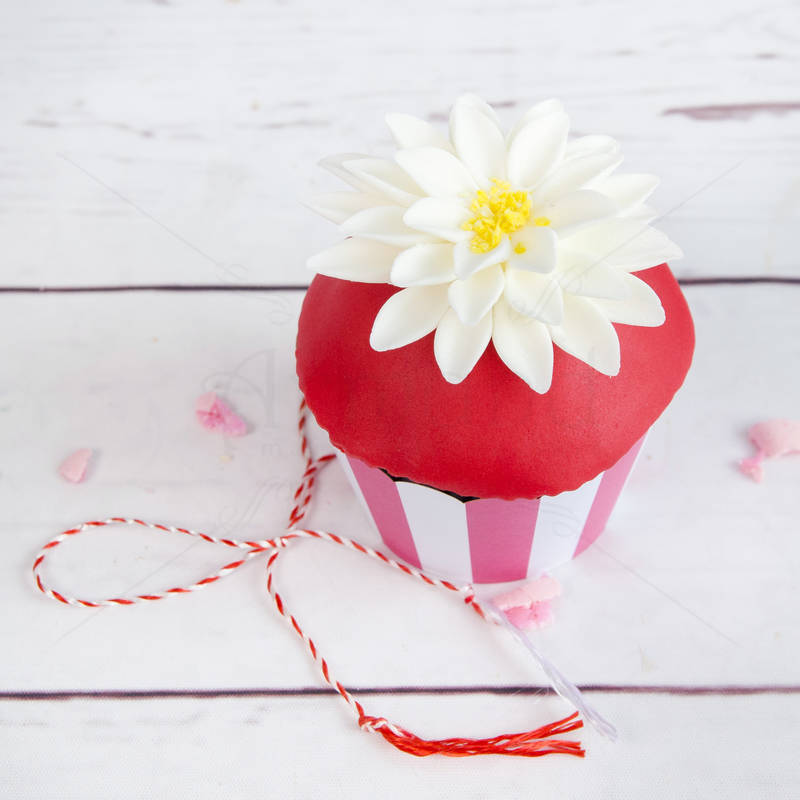 Cupcake Dalie alba