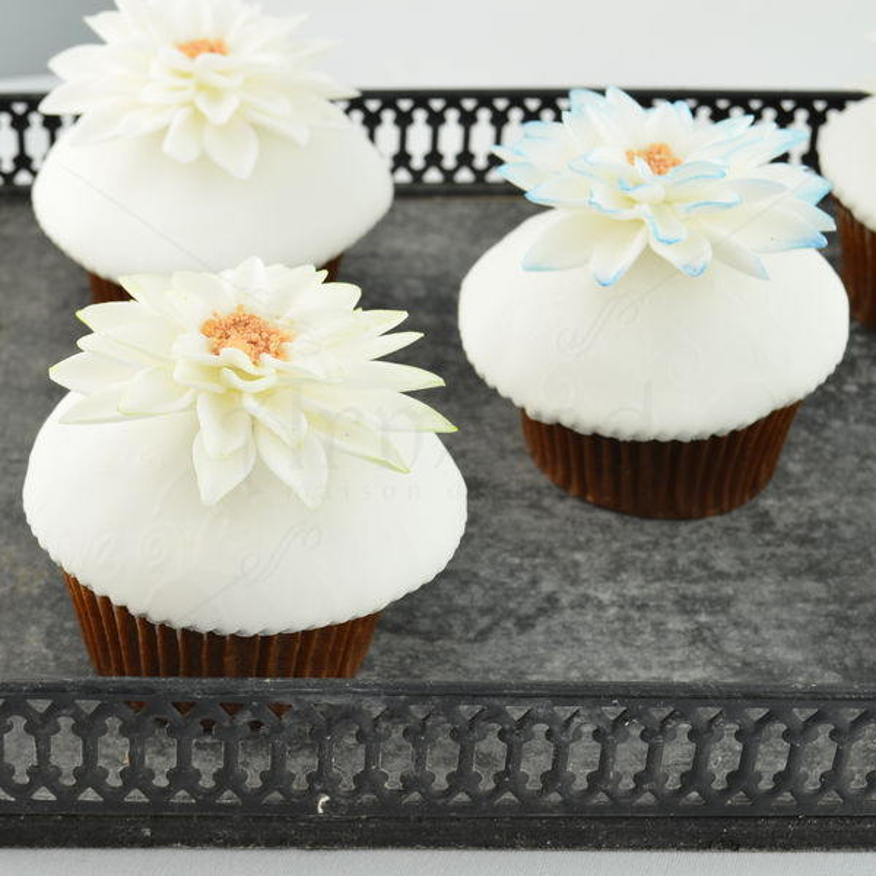 Cupcake-uri Flori albe elegante
