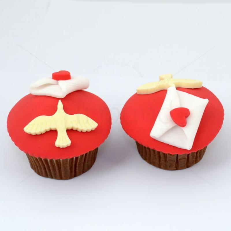 Cupcake Porumbei mesageri ai dragostei