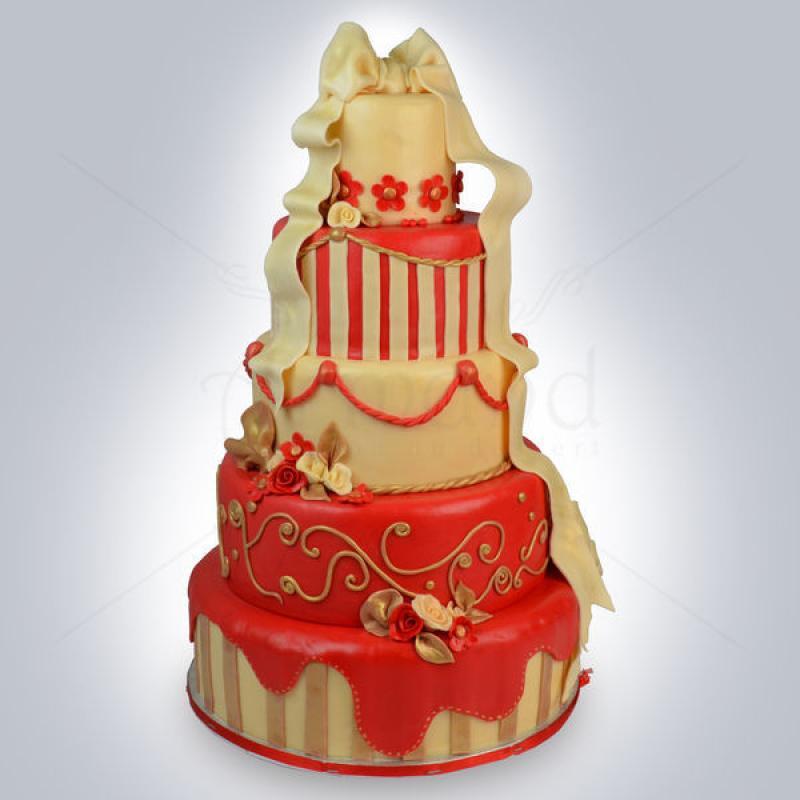 Tort Ivory, rosu si auriu