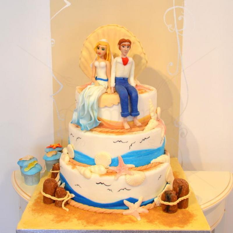 Tort de nunta Pe malul marii