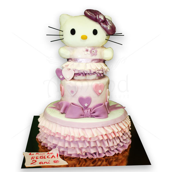 Tort Hello Kitty si dantela