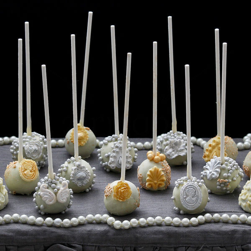 Cake Pops  Luxury Argintii