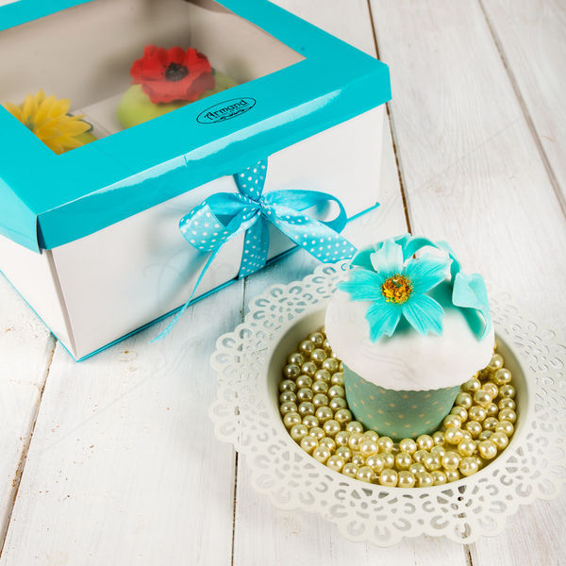 Cutie turquoise 4 Cupcakes