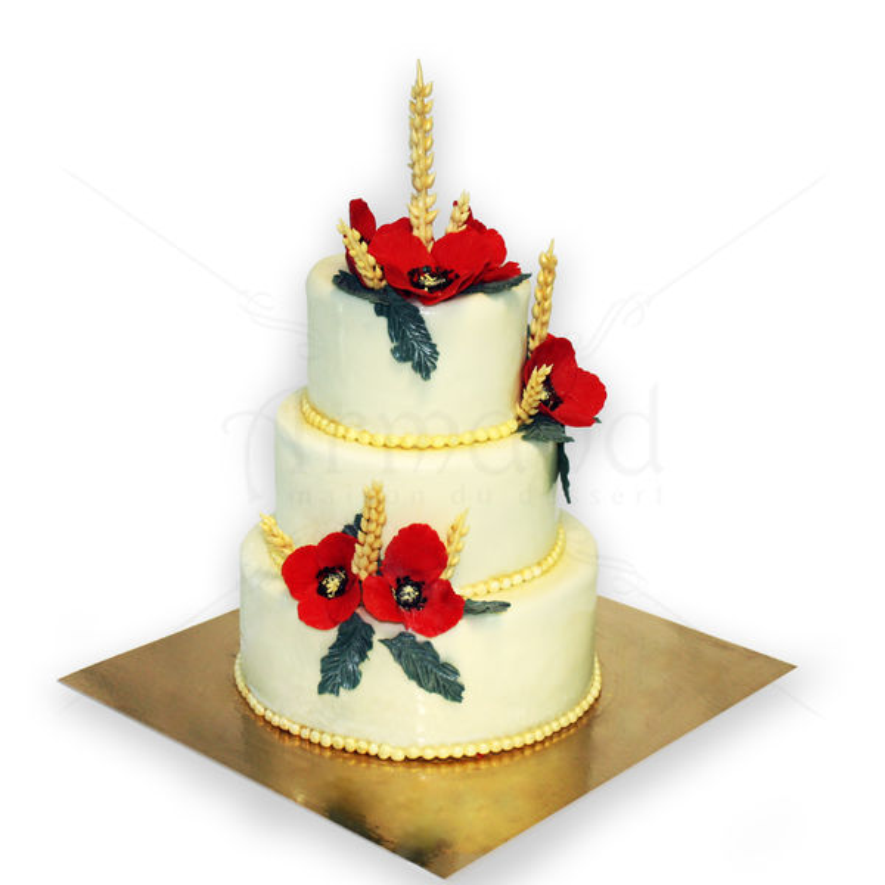 Tort nunta Maci si spice de grau