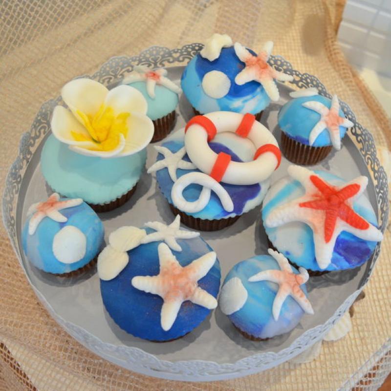 Cupcakes cu tematica marina