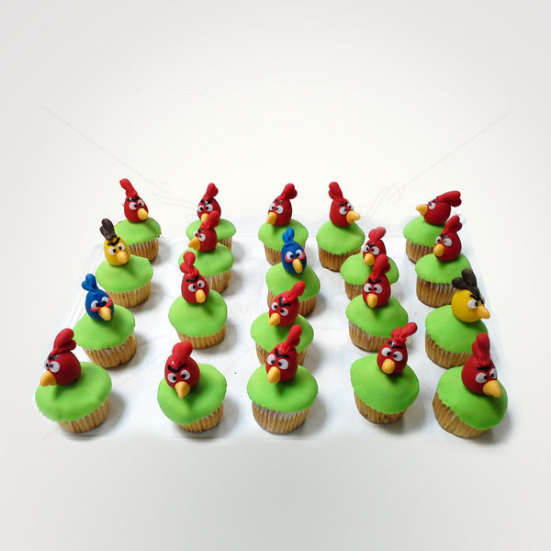Mini cupcakes Angry Birds