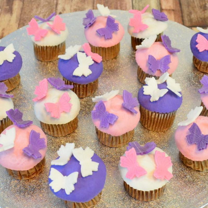 Mini cupcakes fluturasi